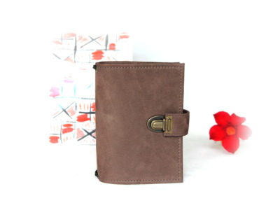 Travelers Notebook Nubuk Leder braun A6