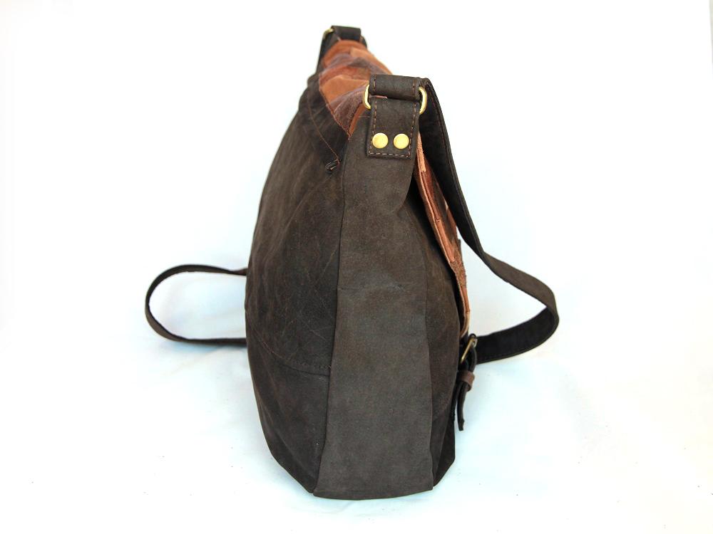 Schultertasche aus Leder Hobo Bag