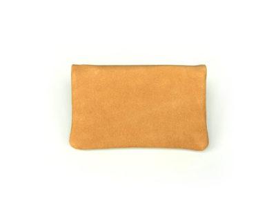 Tabaktasche aus Leder in hellbraun ocker